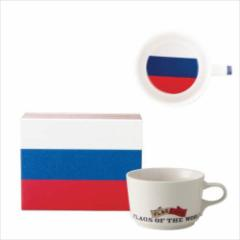 取寄品 国旗 ポストカード マッチ箱 ギフトボックス入り フラッグカフェ マグカップ ロシア RUSSIA 日本製