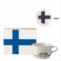 取寄品 国旗 ポストカード マッチ箱 ギフトボックス入り フラッグカフェ マグカップ フィンランド FINLAND 日本製