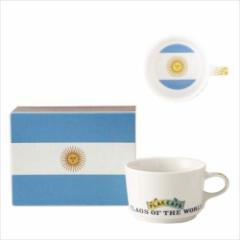 取寄品 国旗 ポストカード マッチ箱 ギフトボックス入り フラッグカフェ マグカップ アルゼンチン ARGENTINA 日本製