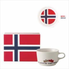 取寄品 国旗 ポストカード マッチ箱 ギフトボックス入り フラッグカフェ マグカップ ノルウェー NORWAY 日本製