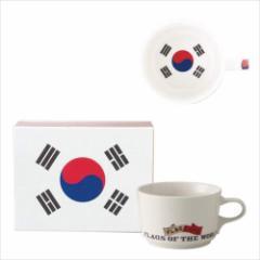 取寄品 国旗 ポストカード マッチ箱 ギフトボックス入り フラッグカフェ マグカップ コリア 韓国KOREA 日本製