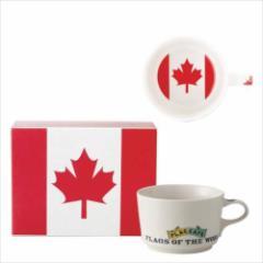 取寄品 国旗 ポストカード マッチ箱 ギフトボックス入り フラッグカフェ マグカップ カナダ CANADA 日本製