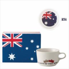 取寄品 国旗 ポストカード マッチ箱 ギフトボックス入り フラッグカフェ マグカップ オーストラリア AUSTRALIA 日本製