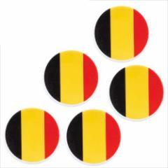 取寄品 国旗 箸置き 5個セット フラッグカフェ カトラリーフォルダー ベルギー BELGIUM 日本製