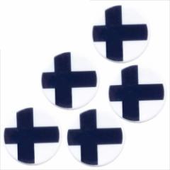 取寄品 国旗 箸置き 5個セット フラッグカフェ カトラリーフォルダー フィンランド FINLAND 日本製