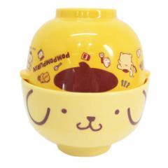 ポムポムプリン 茶碗 メラミン茶碗&汁椀セットサンリオ キャラクター グッズ