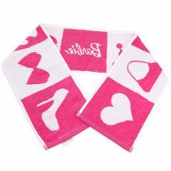 Barbie バービー人形 スリムロングタオル マフラータオル ピンクアイコン キャラクターグッズ メール便可