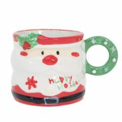 Xmas クリスマス マグカップ 陶器製ミニコップ ライクリース サンタ パーティー用品 グッズ