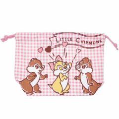 チップ&デール ランチ巾着 マチ付き巾着袋 コミック ディズニー キャラクターグッズ メール便可