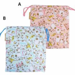 ひつじのショーン 巾着袋 巾着 L ピンク ブルー キャラクターグッズ メール便可