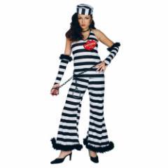 送料無料 ハロウィン コスプレ 仮装 レディース プリゾナーオブラブ 女性用 囚人服 ホラー パーティ用品グッズ