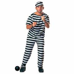 50%OFF ハロウィン コスプレ 衣装 男性用 プリズナー メンズ 囚人服 ホラー パーティ 雑貨グッズ SALE 4/19朝10時まで