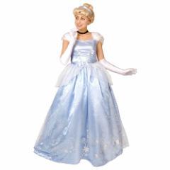 送料無料 シンデレラ ハロウィン コスプレ 仮装 女性用 ドレス ディズニー プリンセス キャラクター
