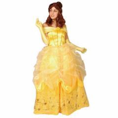 送料無料 美女と野獣 ベル ハロウィン コスプレ 仮装 女性用 ドレス ディズニー プリンセス キャラクターグッズ