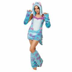 送料無料 モンスターズユニバーシティ ハロウィン コスプレ 女性用 サリー 衣装 セットディズニー キャラクター