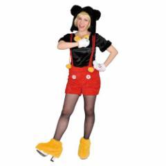 送料無料 ミッキーマウス ハロウィン コスプレ 衣装 女性用 もこもこ コスチューム セットディズニー キャラクター