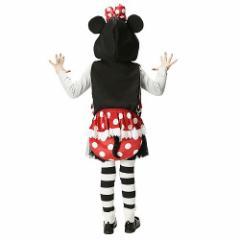 ミニーマウス ハロウィン コスプレ 衣装 子供用 フード付き おしり バッグディズニー キャラクターグッズ