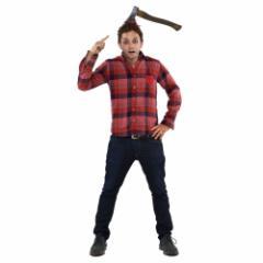 ハロウィン コスプレ 小物 アックス ヘッドバンド 突き刺さった 斧 お化け ホラー パーティ雑貨 グッズ