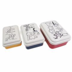 くまのプーさん お弁当箱 入子式ふわっとシール容器3Pセット POOHスケッチ のぞき ディズニー キャラクター グッズ