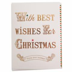 クリスマスカード グラフィカルカード ホワイト ギフト雑貨グッズ メール便可