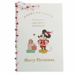 ミッキーマウス クリスマスカード ウッド—パーツカード Mickeyとプレゼント ディズニー キャラクターグッズ メール便