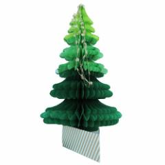 クリスマスカード ハニカムツリーカード グリーン ギフト雑貨グッズ メール便可