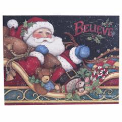 LANG ラング社 クリスマスカード 封筒付きグリーティングカード Believe Santa カントリー フォークグッズ メール便可