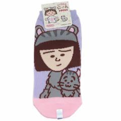 ちびまる子ちゃん 女性 用 靴下 レディースソックス 野口にゃん アニメキャラクターグッズ メール便可