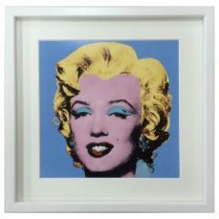 取寄品 送料無料 アンディ ウォーホールインテリア アート POP ART Shot Blue Marilyn 1964 額付きポップアート通販