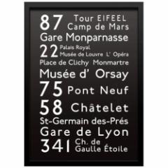 取寄品 送料無料 Bus Roll Design インテリア アート インダストリアルスタイル PARIS 額付き グッズ