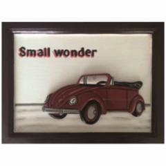 取寄品 Handmade Sign Board インテリア アート カフェ風インテリア Small wonder 額付き手彫りフレーム通販