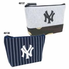 ニューヨークヤンキース ペンポーチ ビッグペンケース 合皮ワッペン MLB 男の子向け グッズ