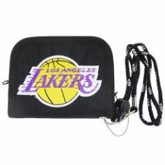 ロサンゼルス レイカーズ 2つ折り財布 ナイロンウォレット NBA バスケットボール グッズ