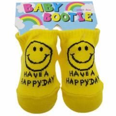 HAVE A HAPPY DAY 赤ちゃん靴下 ベビーブーティーソックス イエロー BABY SOCKS グッズ