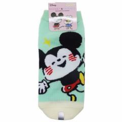 ディズニー×カナヘイ 女性用靴下 レディースソックス ミッキー しあわせ ディズニー キャラクターグッズ メール便可