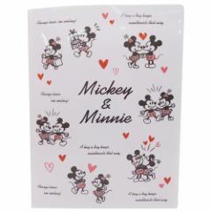 ミッキー&ミニー ファイル 10ポケット A4クリアファイル ラブラブ ディズニー キャラクター グッズ