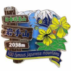 日本百名山 ピンバッジ 2段 ピンズ 岩手山 登山グッズ メール便可