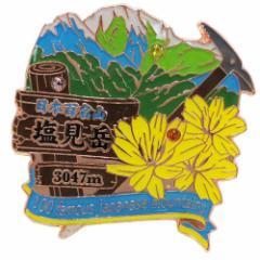 日本百名山 ピンバッジ 1段 ピンズ 塩見岳 登山グッズ メール便可