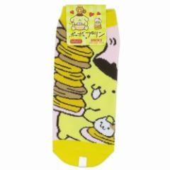 ポムポムプリン 女性用 靴下 レディース ソックス ホットケーキタワー サンリオ キャラクターグッズ メール便可