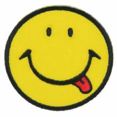 SMILEY スマイリーフェイス ワッペン アイロン パッチ ベロスマイル キャラクターグッズ メール便可