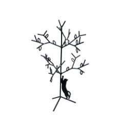取寄品 アクセサリー 収納 黒猫 アクセサリースタンド S ツリー ねこ 雑貨 かわいいインテリア通販