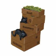 取寄品 スマホスタンド 黒猫 スマートフォン スタンド 木箱 ねこ 雑貨 かわいいインテリア通販
