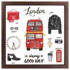 取寄品 送料無料 インテリア パネル キャンバス アート ロンドン Good idea Series London インテリア グッズ