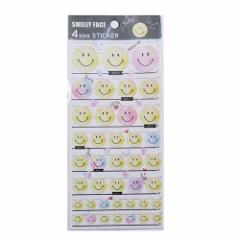 SMILEY スマイリーフェイス シール 4サイズ ステッカー ちらし キャラクターグッズ メール便可