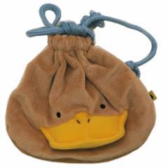 ウォンバットさんたち 巾着袋 ぬいぐるみ きんちゃくポーチ S カモノハシさん キャラクターグッズ メール便可