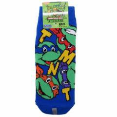 ニンジャタートルズ 男性用 靴下 メンズ ソックス フェイスちらしBL キャラクターグッズ メール便可