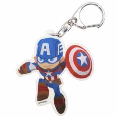 キャプテンアメリカ キーリング アクリルキーホルダー MARVEL ×GuRiHiru マーベル キャラクターグッズ メール便可