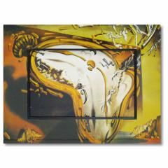 取寄品 送料無料 名画 アートポスター 額付 ビッグアート サルバドール・ダリ 柔らかい時計 インテリアグッズ