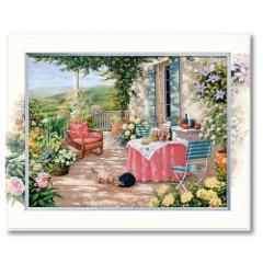 取寄品 送料無料 アートポスター 額付 風景画 ビッグアート ピーターモッツ カーサロッサ L インテリアグッズ