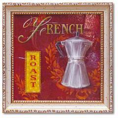 取寄品 カフェ インテリア アートポスター ミニ ゲル アートフレーム フレンチ・ロースト アンジェラ・スターリング インテリア